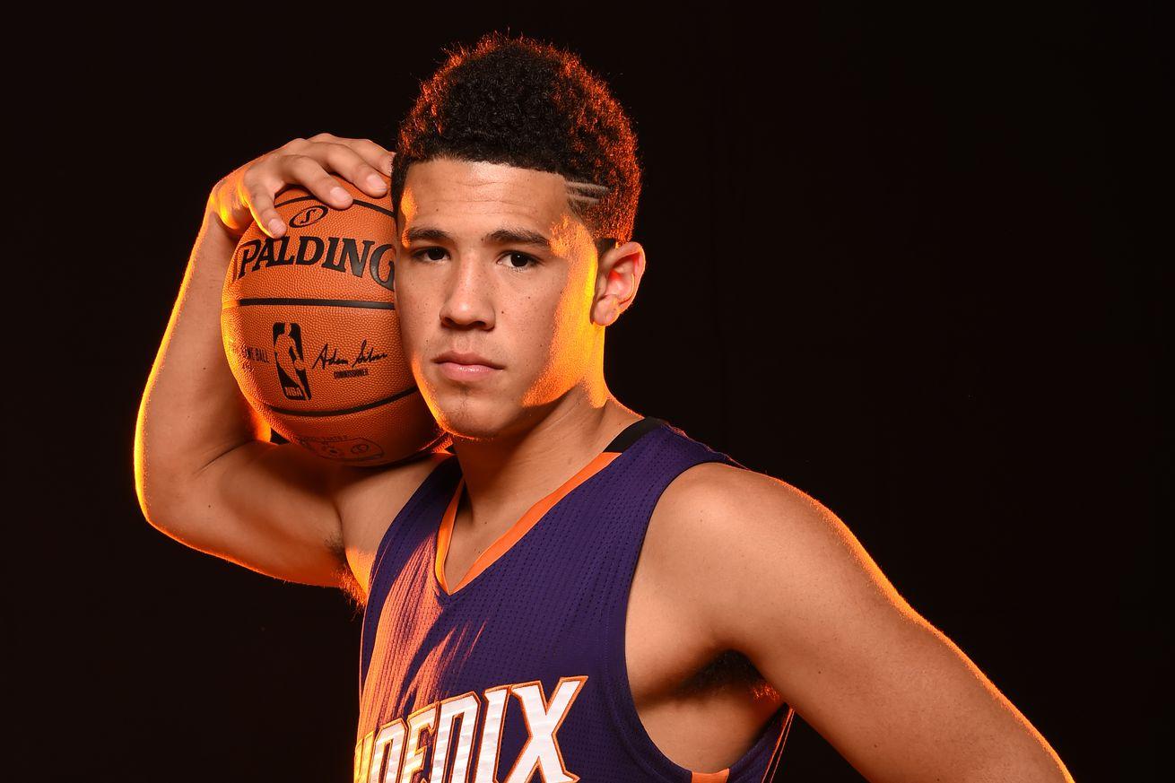 Phoenix Suns Rookie Devin Booker Has Fun At Photo