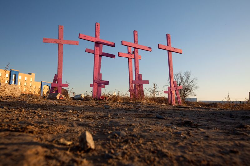 Graves in Mexico — a result of the country's drug war.
