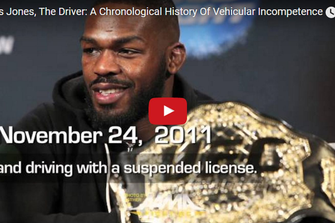 community news, A chronological video history of Jon Jones vehicular incompetence