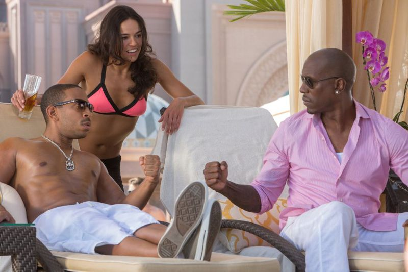 Ludacris and Tyrese are really, really funny. (Furious 7/Universal)