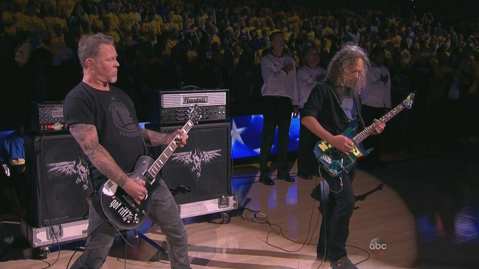 Listen to Metallica's metal national anthem at the NBA Finals - SBNation.com