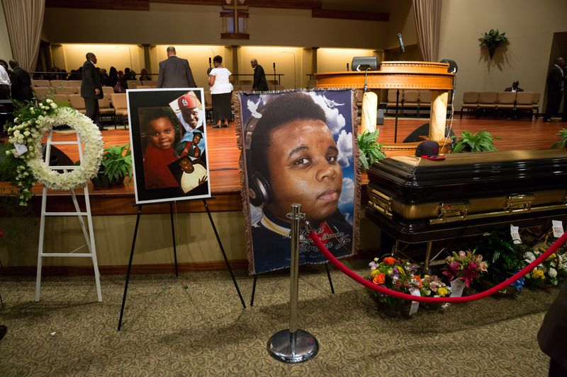 michael brown casket