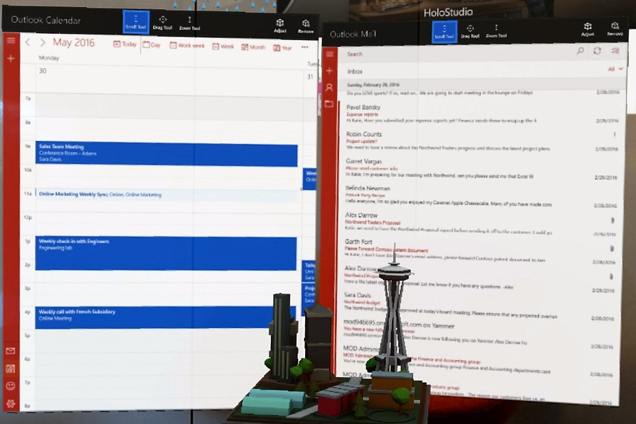 Pin your inbox to your wall with augmented reality Outlook