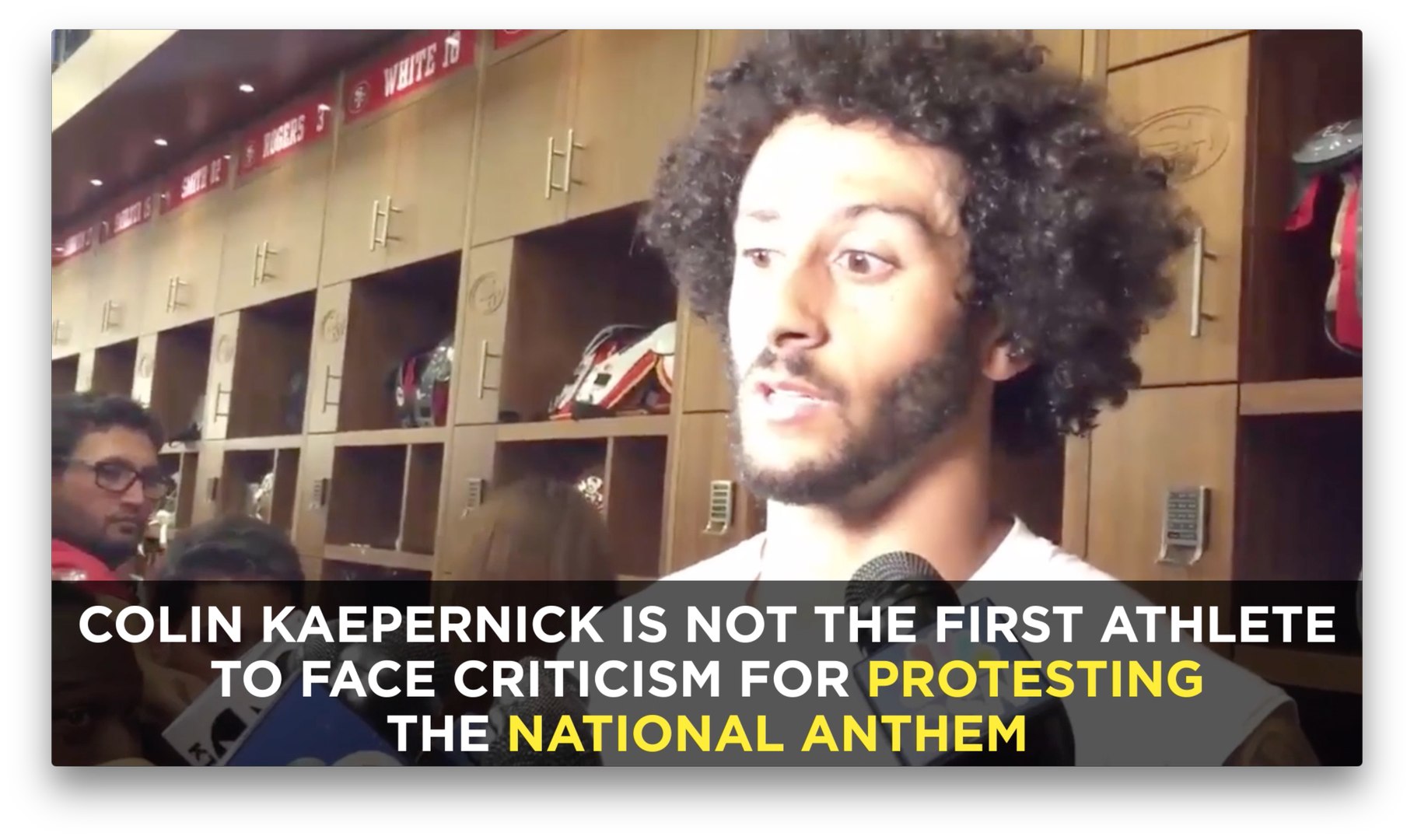 Colin Kaepernick Refused To Stand For The National Anthem Of A