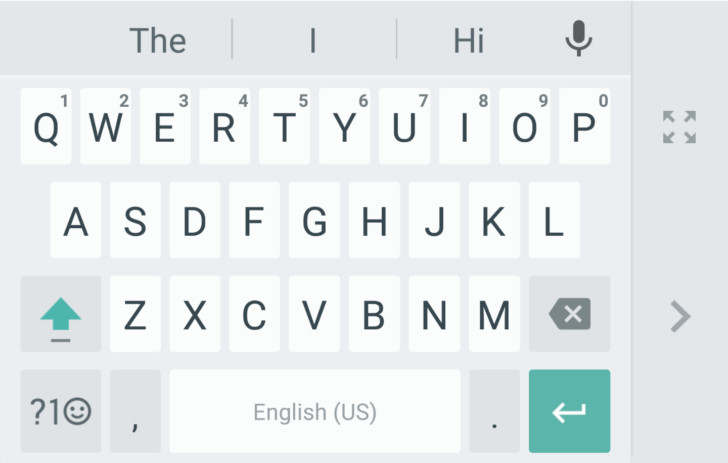 Google Keyboard one-handed