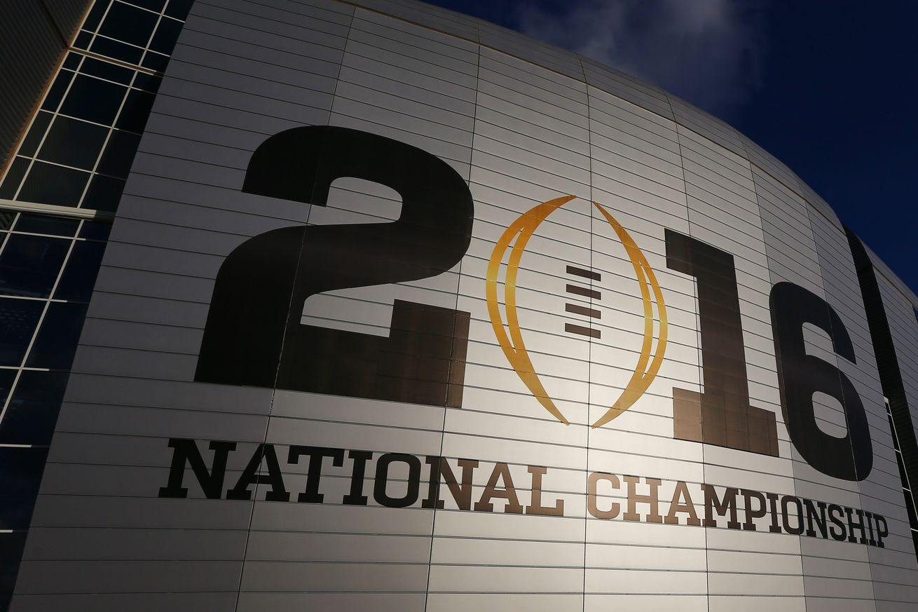 what time is the national championship game tonight 2016 ncaa football schedule