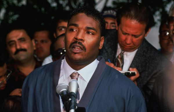 King calls for an end to the violence on May 1, 1992.