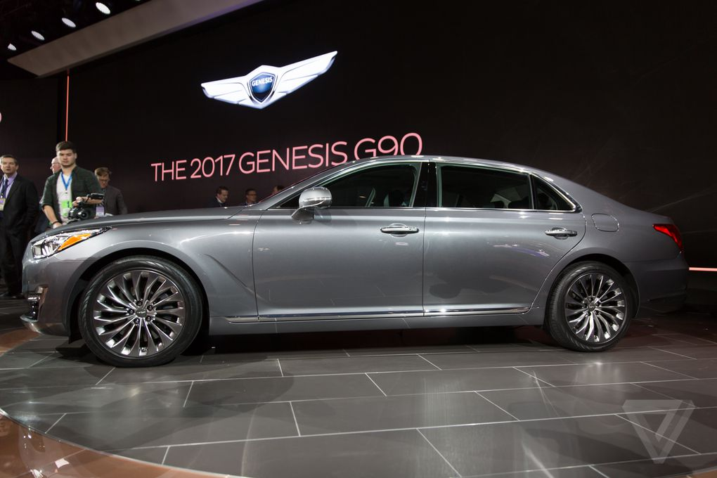 the genesis g90 is the first car from hyundai 39 s new luxury brand the verge. Black Bedroom Furniture Sets. Home Design Ideas