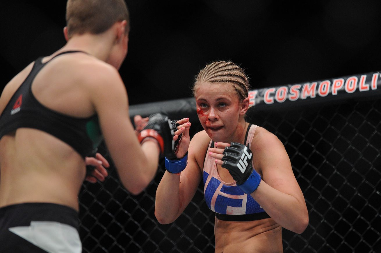 UFC on FOX 21 results: Paige VanZant finishes Bec Rawlings with a sick switch kick