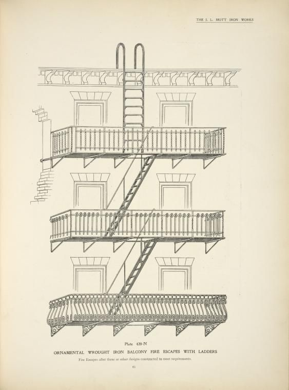 Fire escape diagram