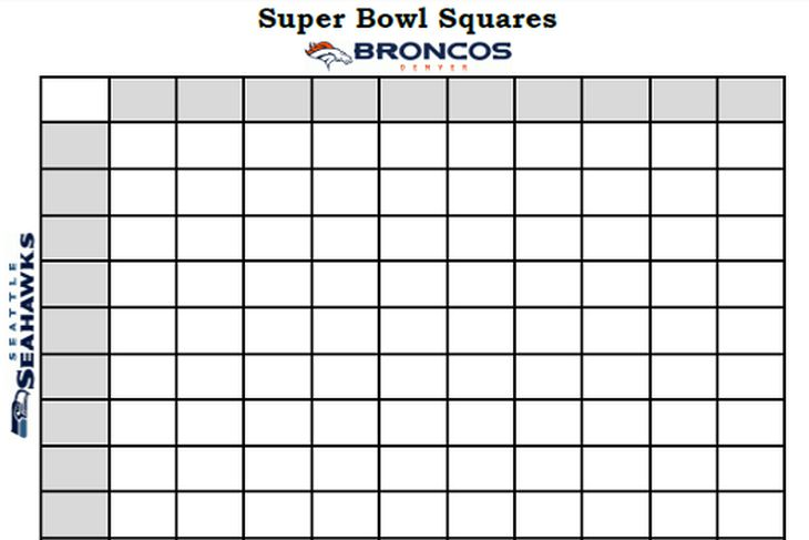 super bowl box template - super bowl squares 2014 template rules and more