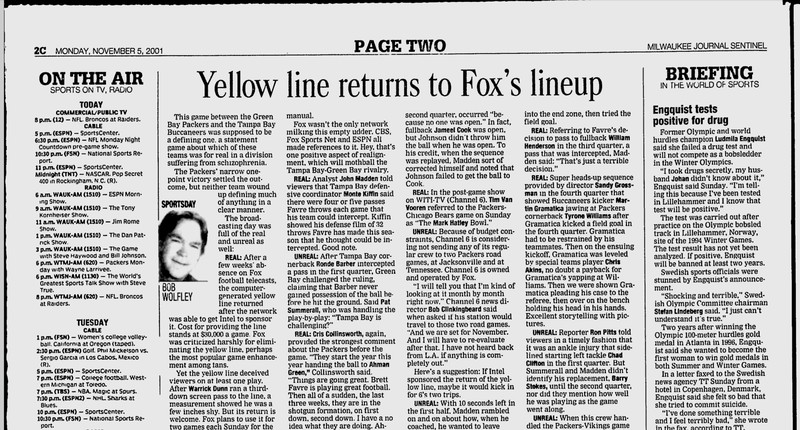 fox returns yellow line