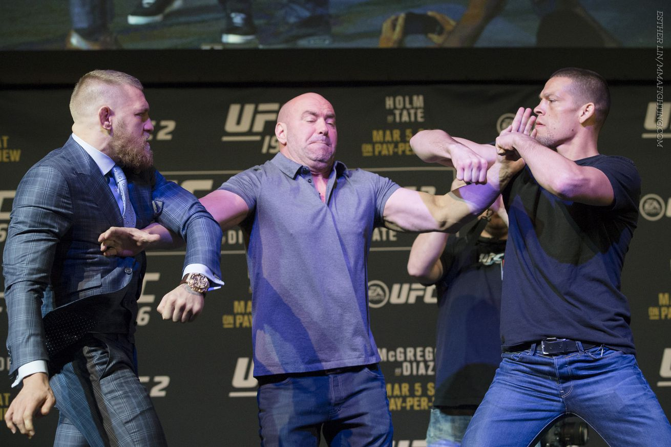 community news, Conor McGregor, Nate Diaz exchange barbs at press conference: Hes like a scared little boy