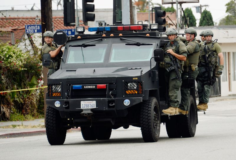 SWAT team manhunt