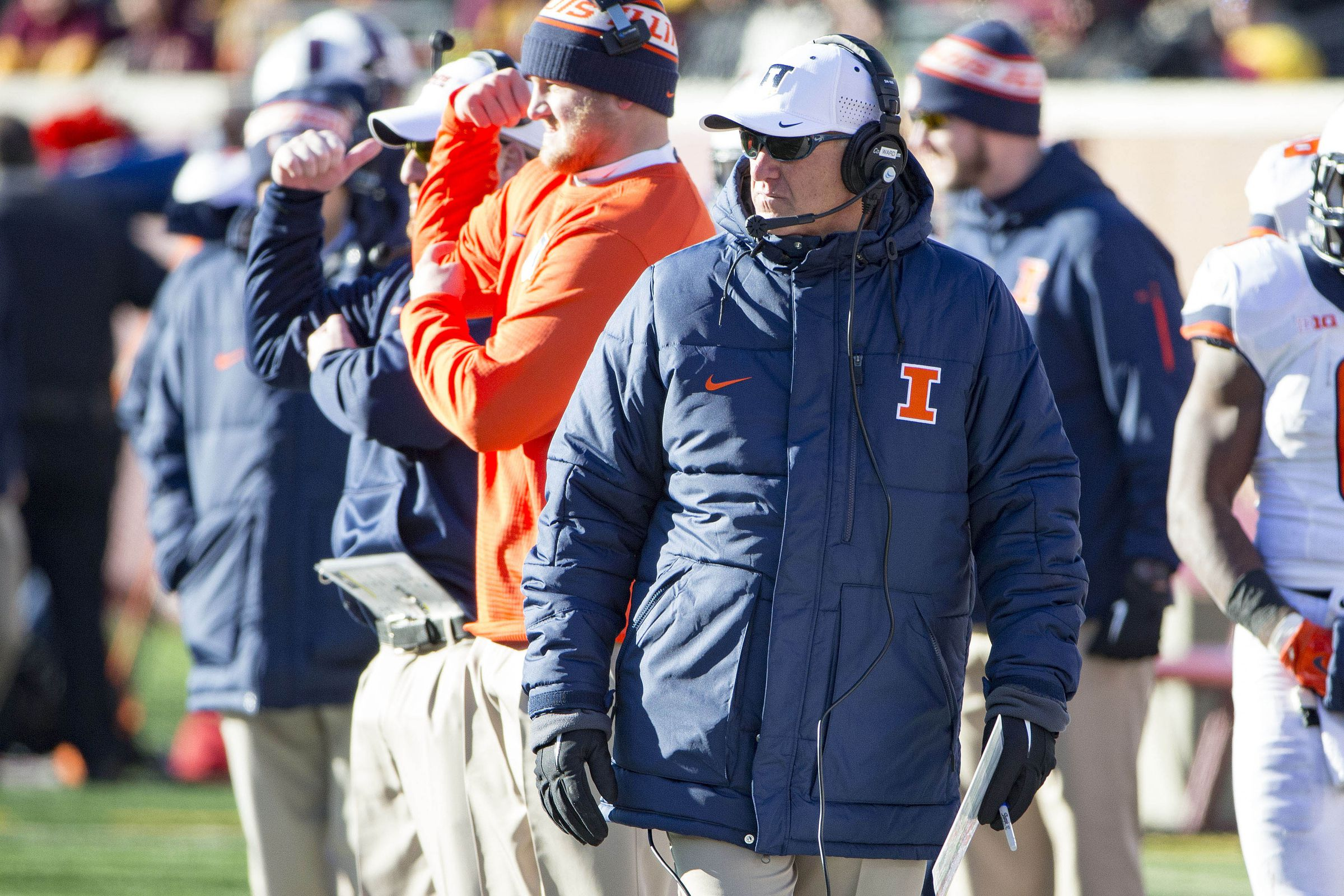 Illinois football assistant coach salaries the champaign room