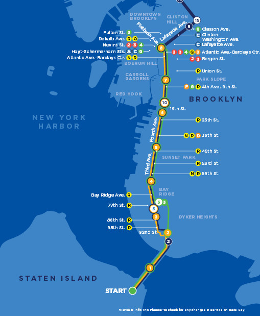 New York City Marathon Route Map