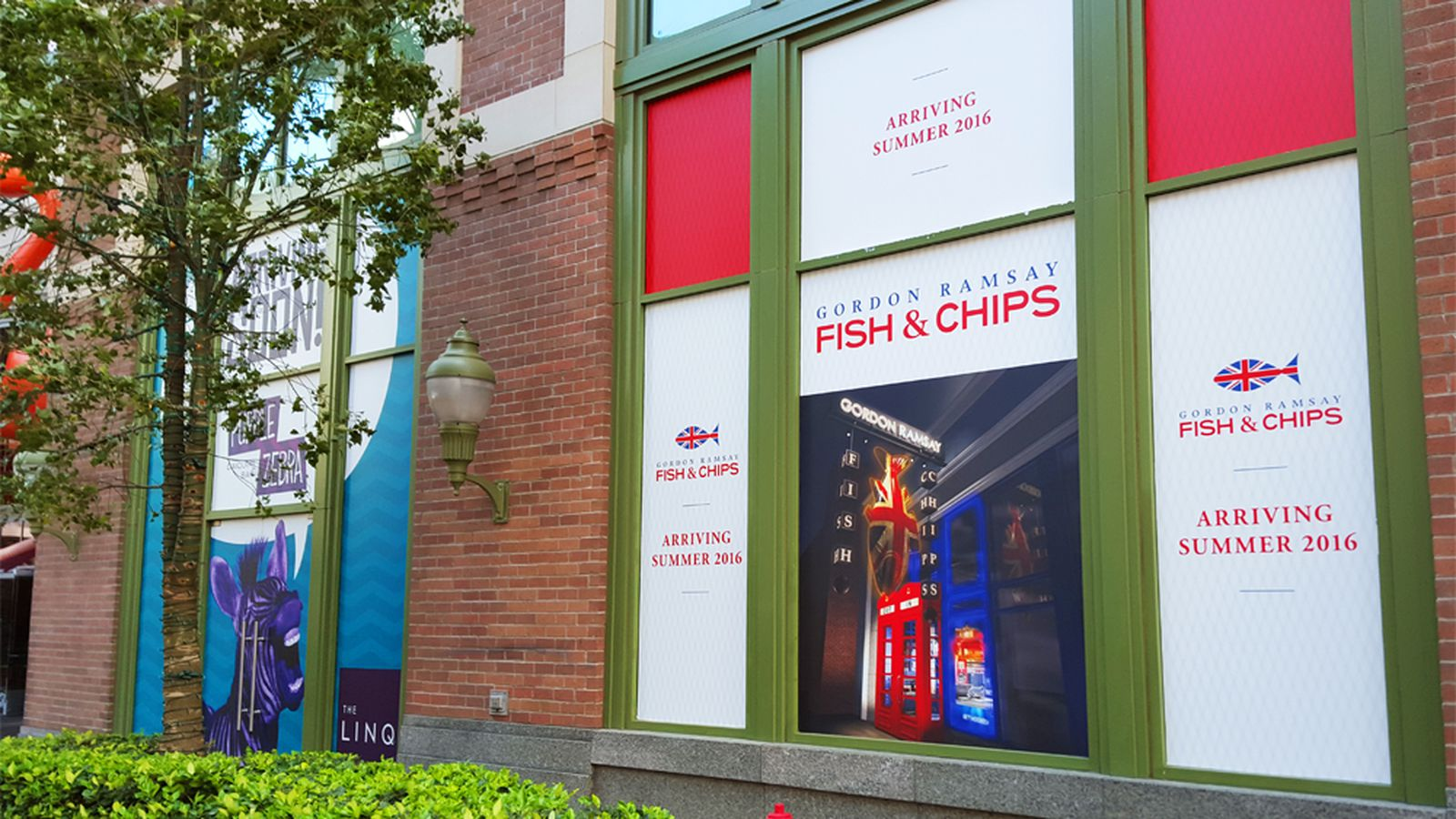 A 2 million gordon ramsay and purple zebra team up at the for Gordon ramsay las vegas fish and chips