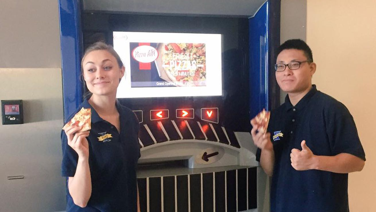 Xavier University drools over America's first pizza ATM
