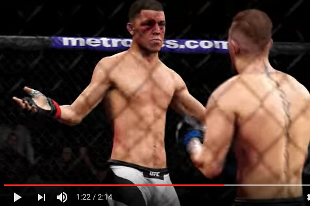 Video: Watch Conor McGregor split Nate Diaz in UFC 202 rematch in EA Sports simulation