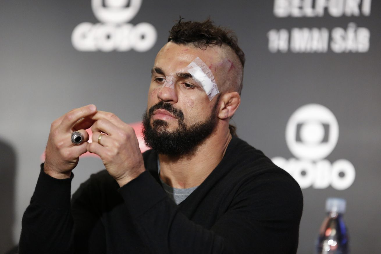 Vitor Belfort on loss to 'Jacare' Souza: 'I went to work but didn't work'