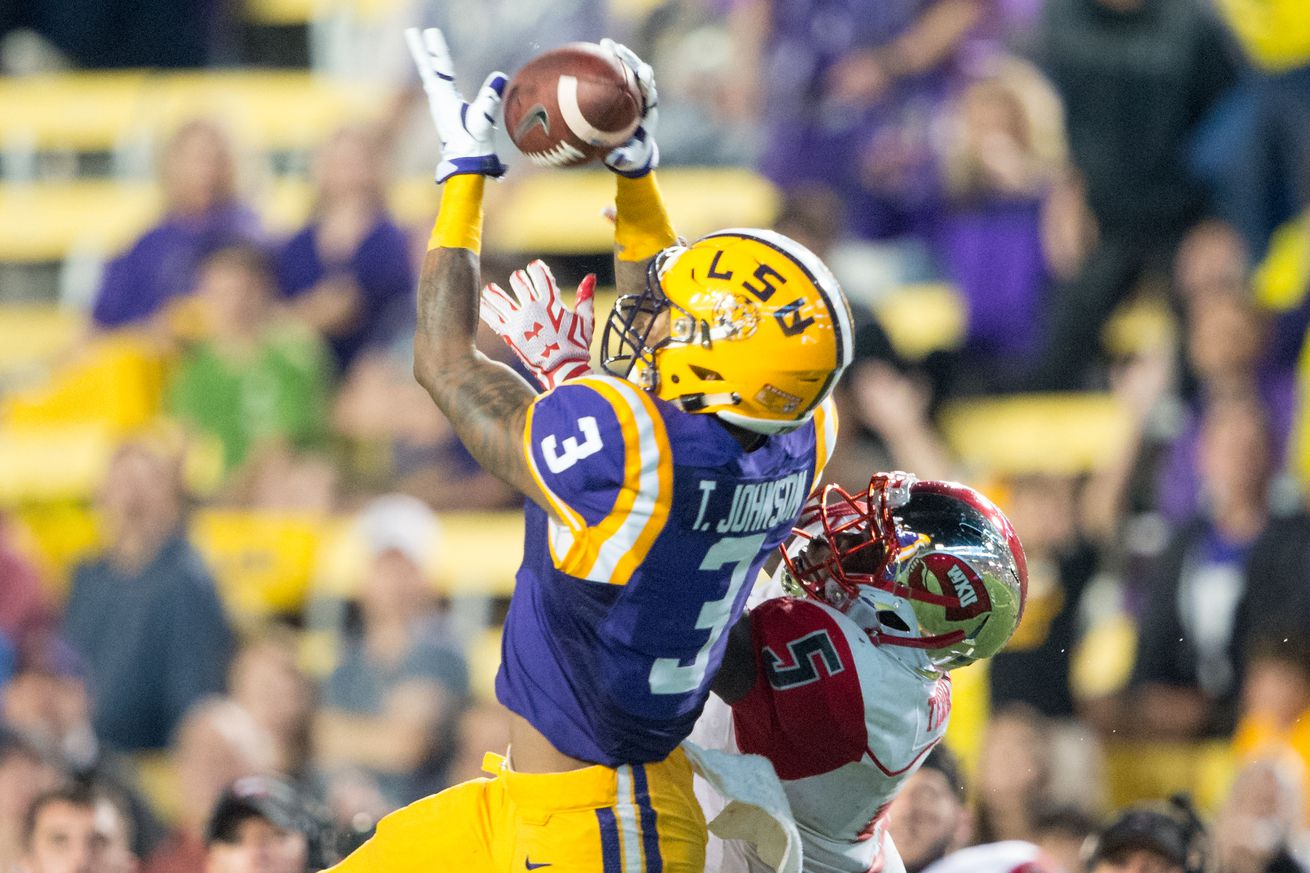 LSU WR Tyron Johnson to transfer, barred from staying in SEC