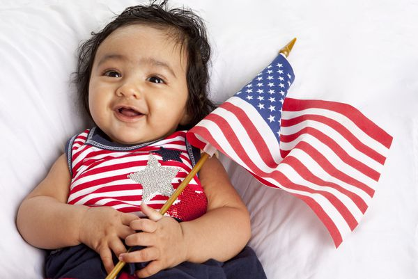A baby. A citizen baby. A proud, patriotic citizen baby.