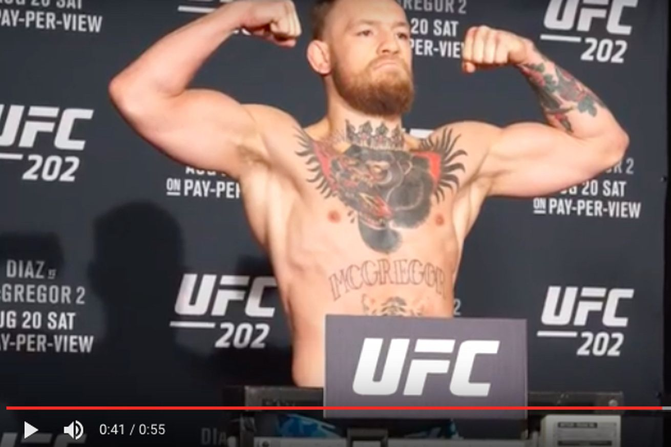 community news, Watch Conor McGregor, Nate Diaz weigh in ahead of UFC 202 rematch