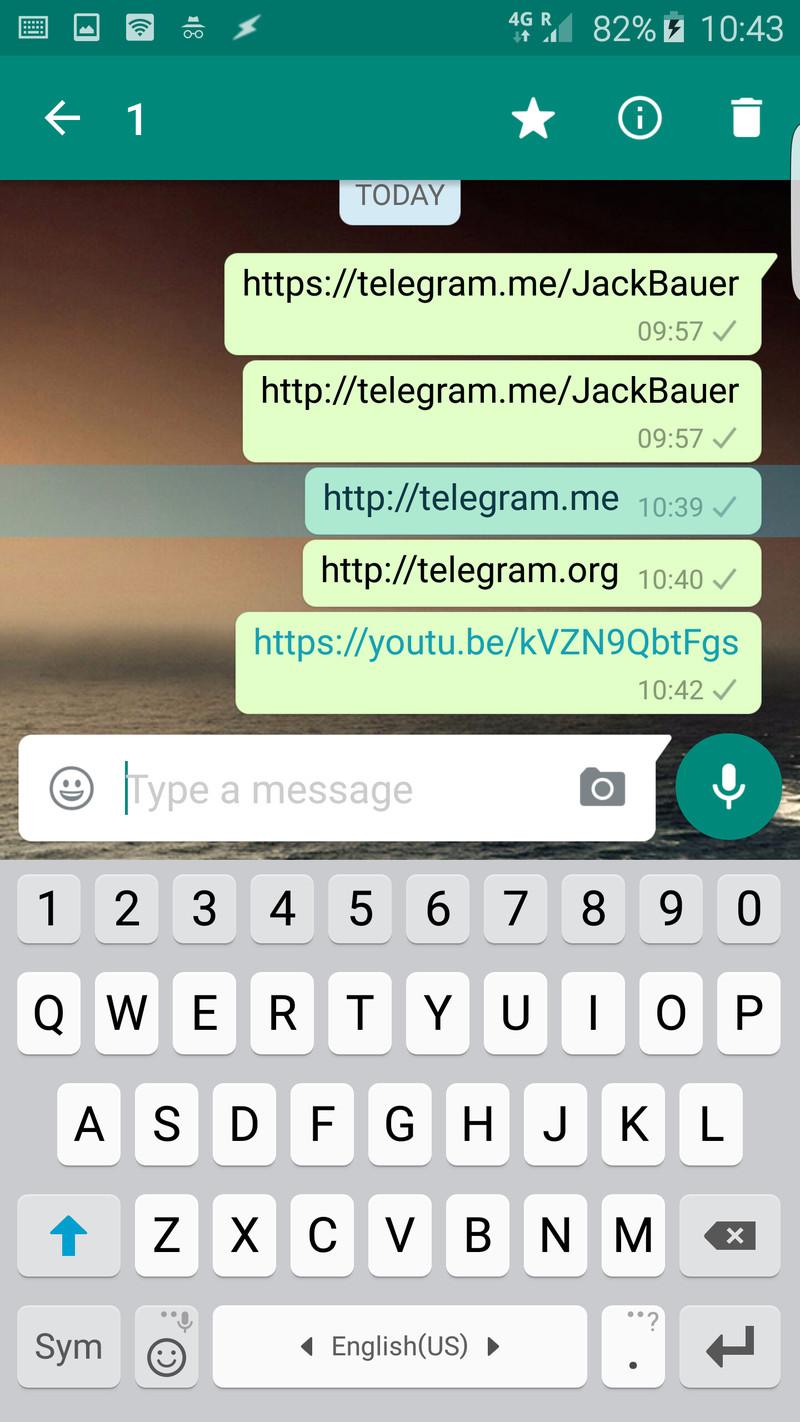 واتس أب يبدأ بحظر روابط تيليجرام 1