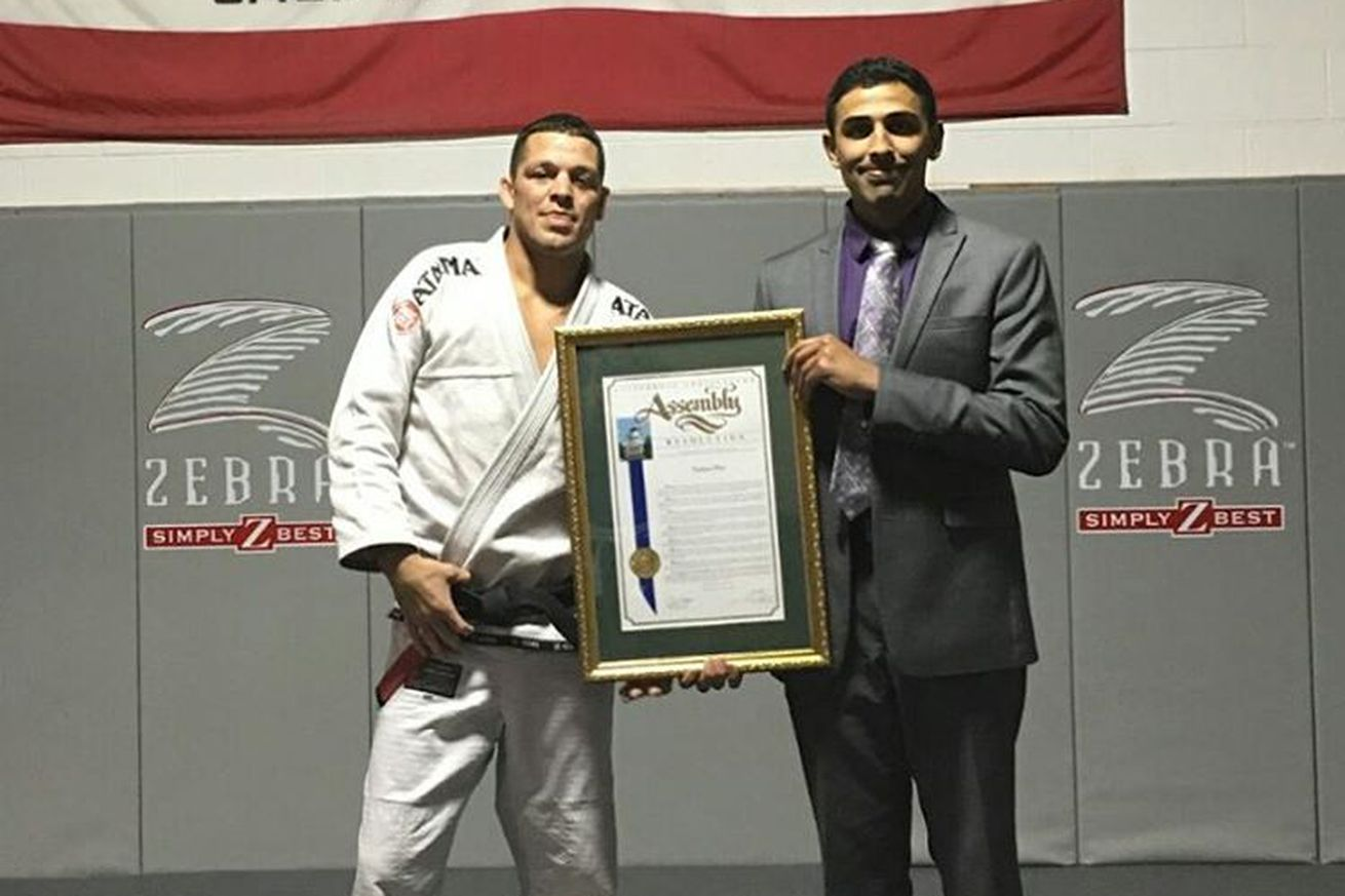 Pic: UFCs Nate Diaz receives legislative award in recognition of community service