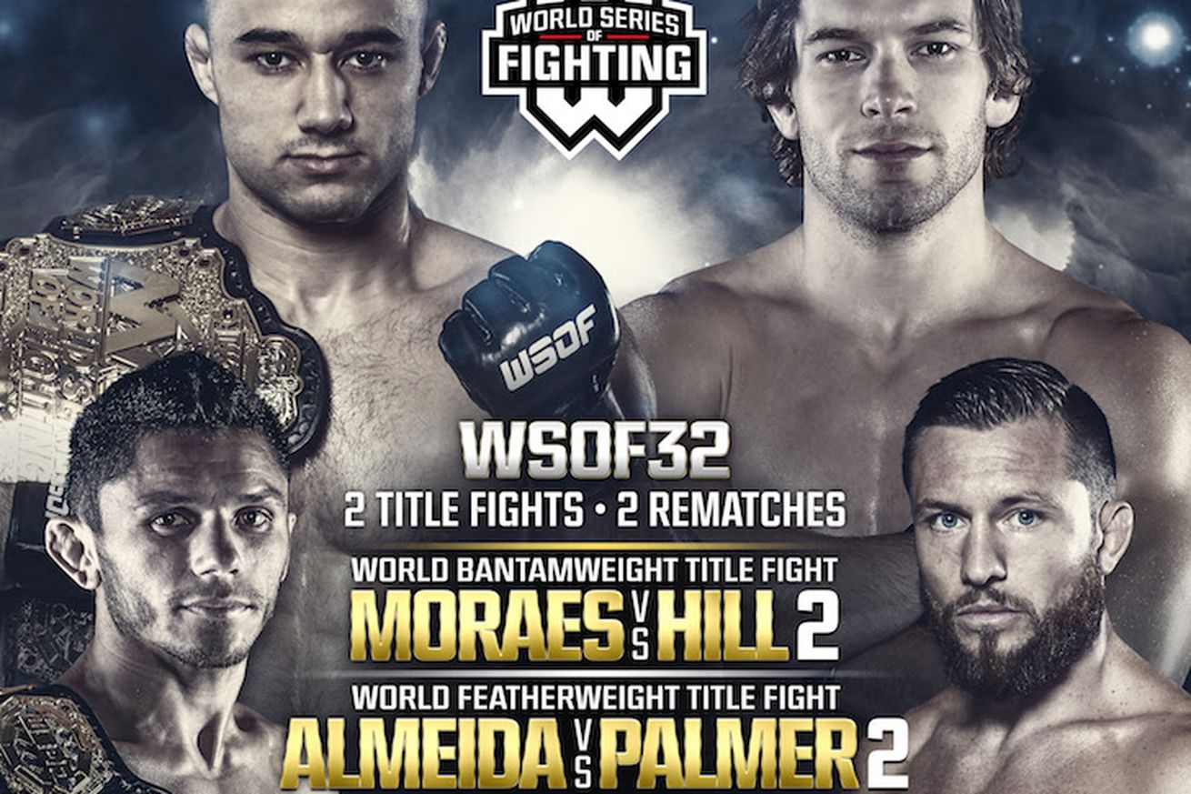WSOF 32 live results stream: Moraes vs Hill 2 play by play updates tonight on NBC Sports