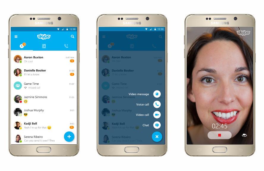 Skype на Андроид с новым material design