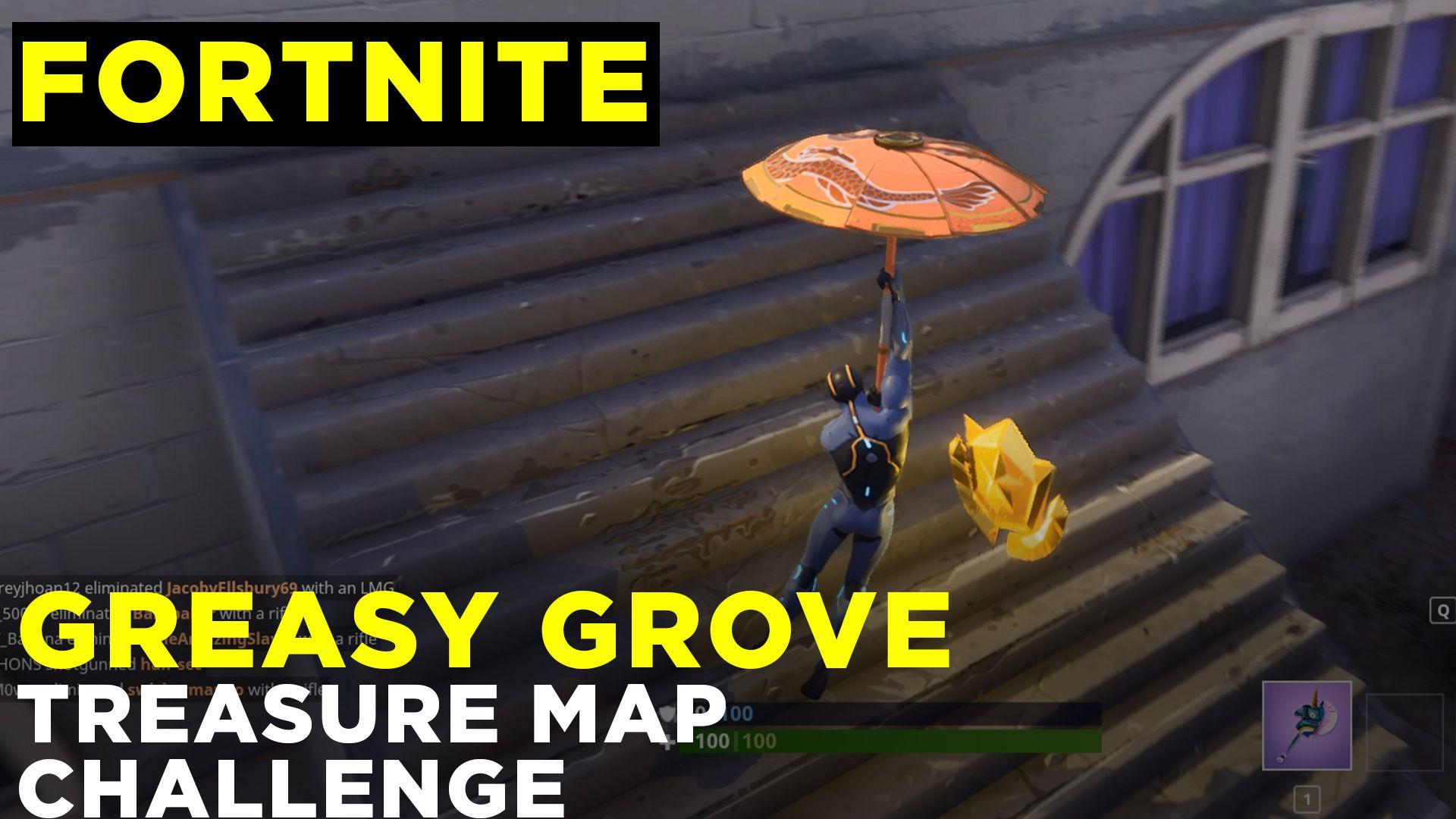 follow the treasure map found in greasy grove fortnite season 4 challenge guide polygon - greasy groove fortnite