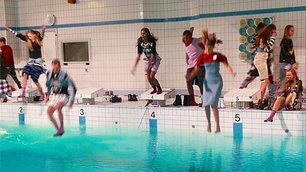 Cheap monday just had a fashion show in a pool racked for Pool show 2014