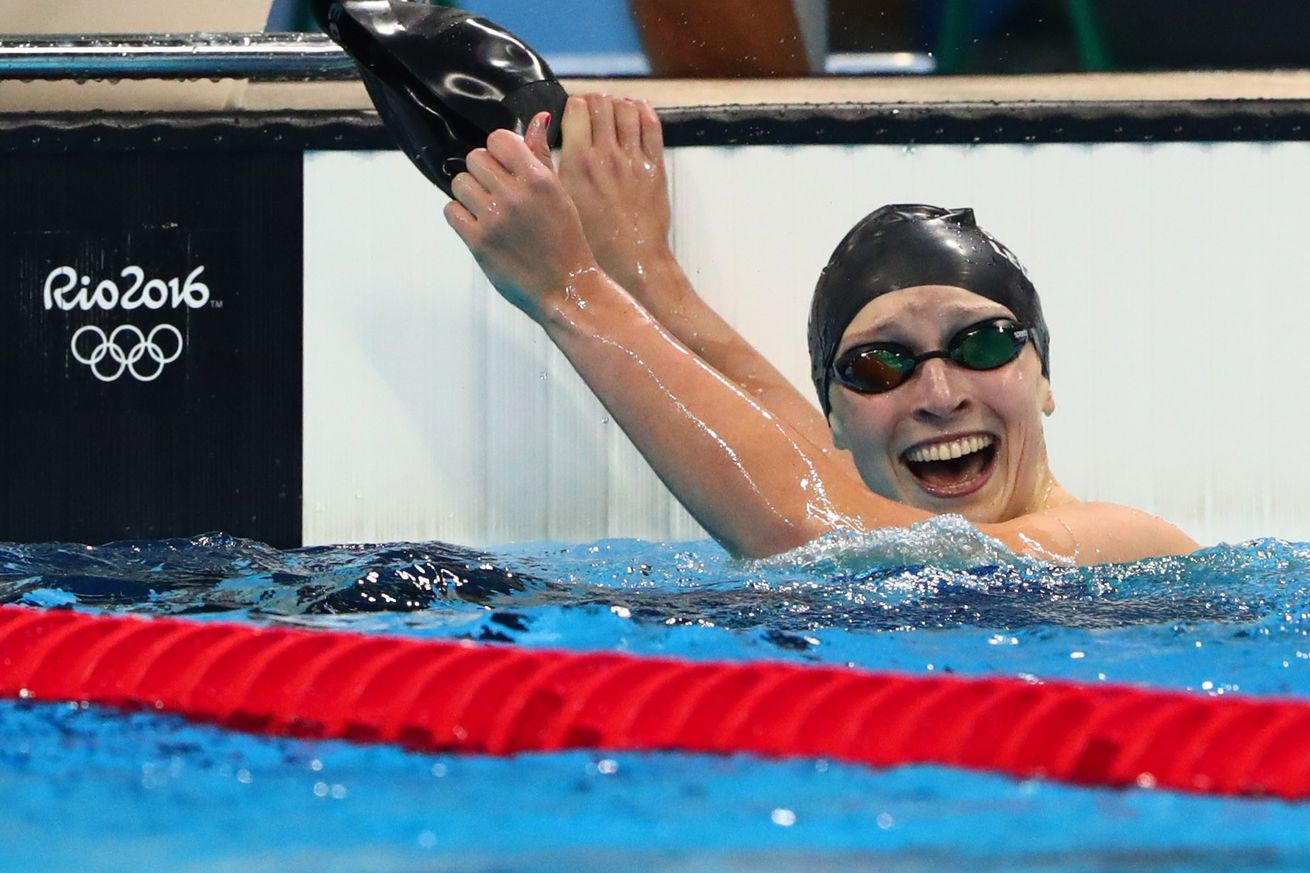 Katie Ledecky wins 3rd gold medal with dominating relay swim