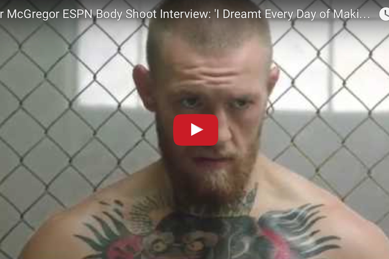 community news, Video: Conor McGregor behind the scenes nude photo shoot for ESPN Body Issue