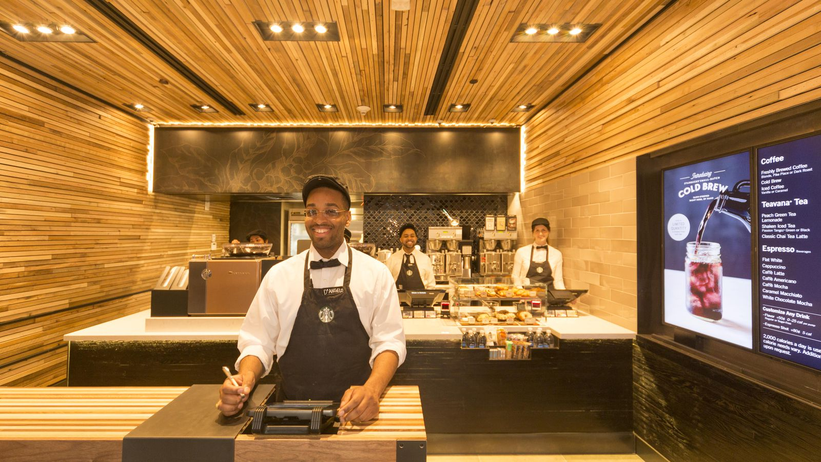 Starbucks Launches First Ever Express Store On Wall