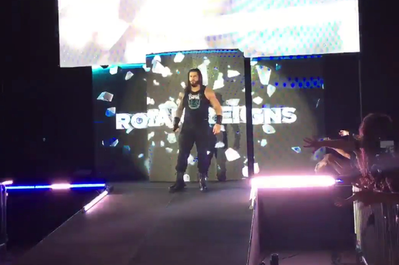 Roman Reigns returns from WWE Wellness Suspension at Live Event in Newark