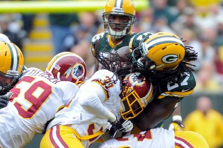 Packers RB Eddie Lacy Changes Helmets to Reduce Concussion Risk - Acme