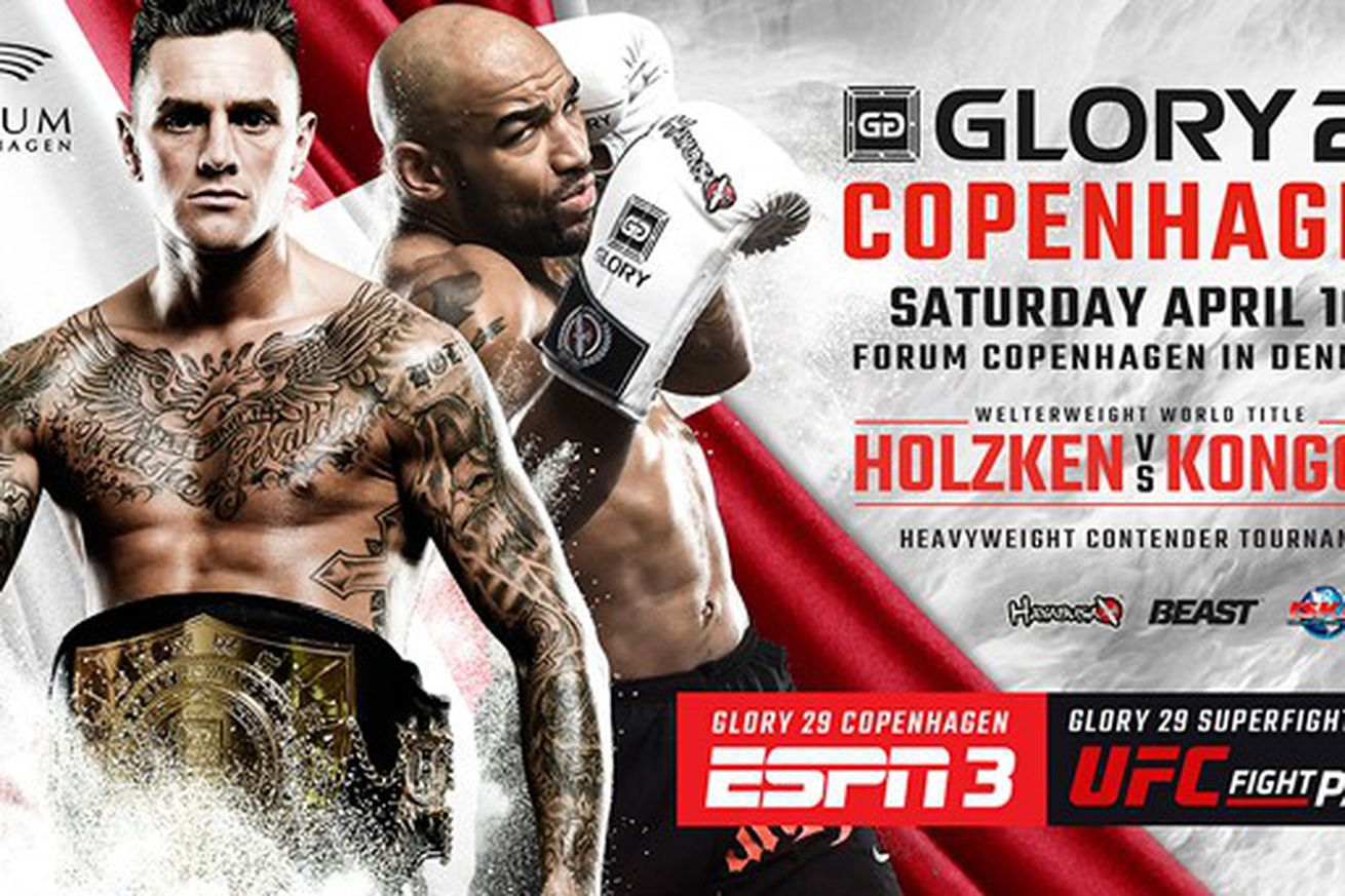 GLORY 28 live stream results, Holzken vs Kongolo ESPN3 play by play updates