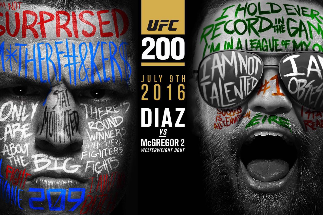 community news, Surprise, motherf   ers! UFC 200 poster pic as colorful as Nate Diaz and Conor McGregor