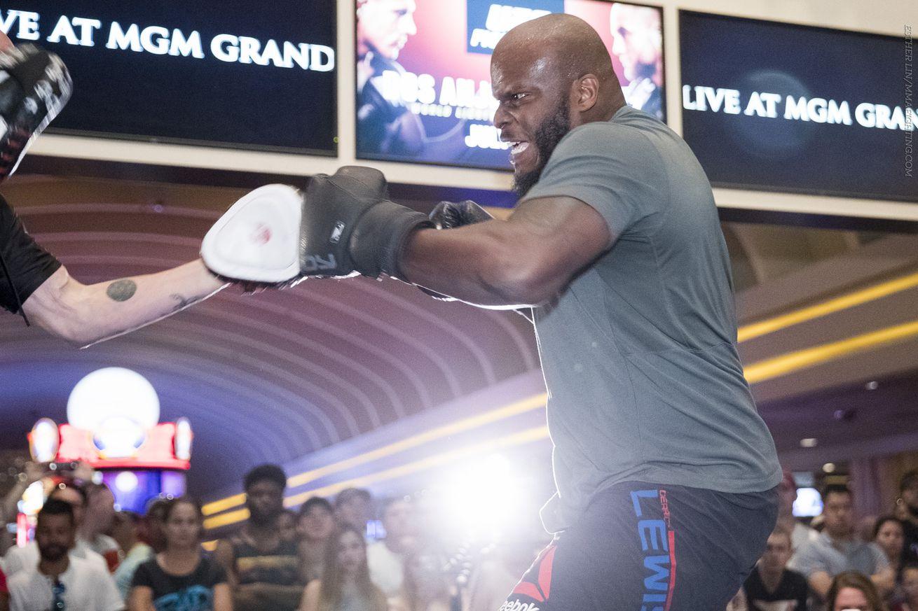 community news, Derrick Lewis wants Lesnar vs. Hunt winner: 'Brock Lesnar is not a fighter'