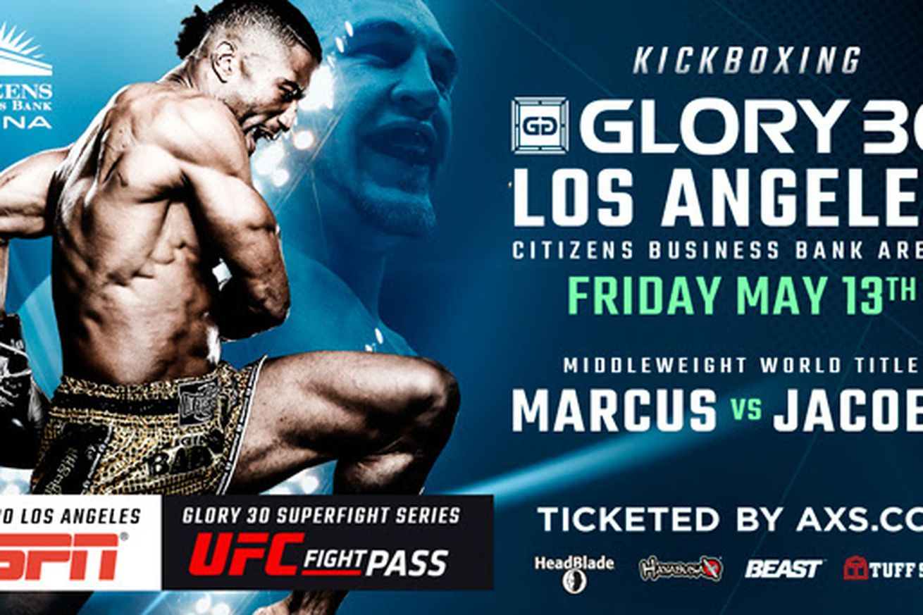 community news, Simon Marcus vs. Dustin Jacoby official for GLORY 30 in Los Angeles