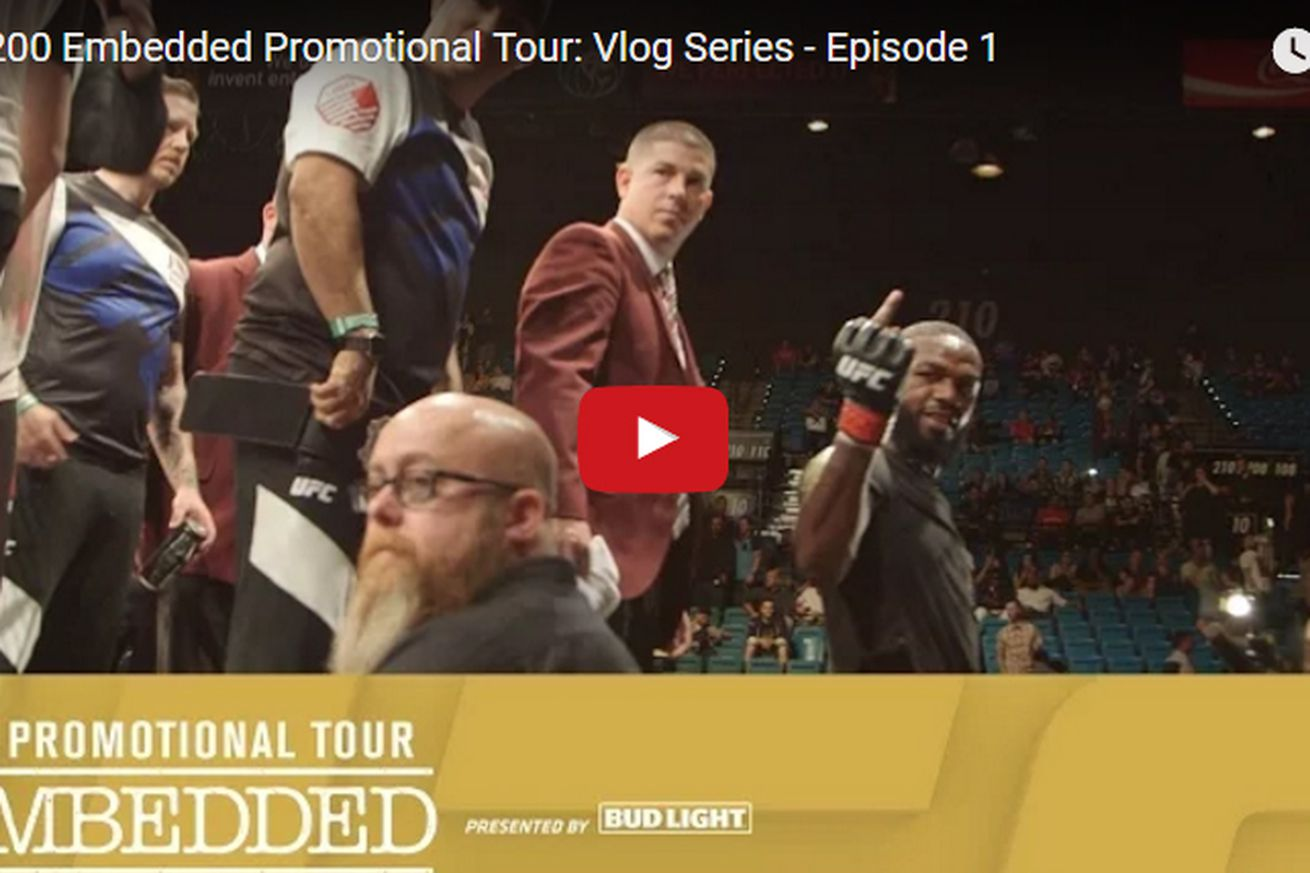 UFC 200 Embedded video blog for Cormier vs Jones 2 promotional tour (Ep. 1): Danny got fingered