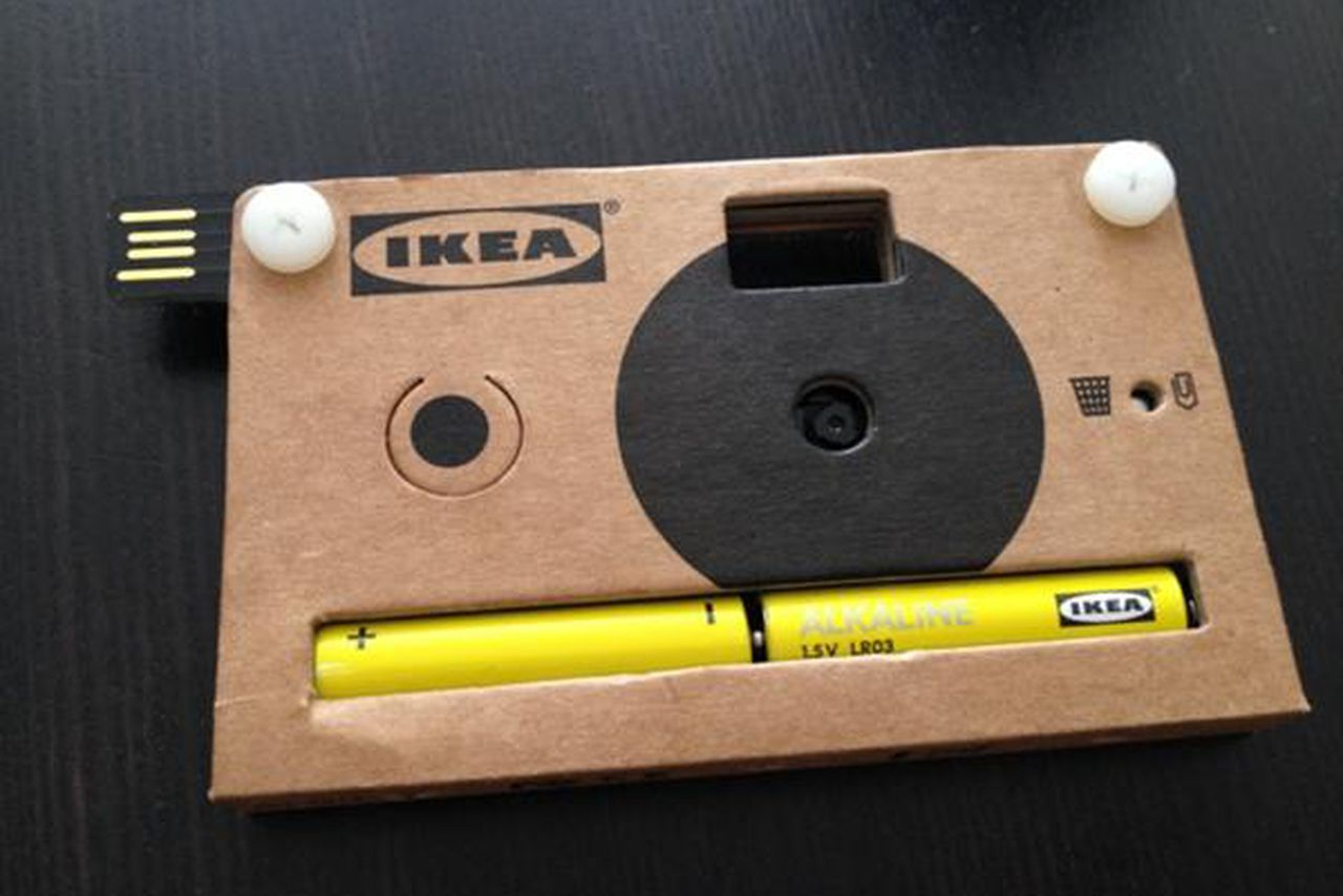 Ikea cardboard camera holds 40 digital photos the verge for Ikea progetto camera