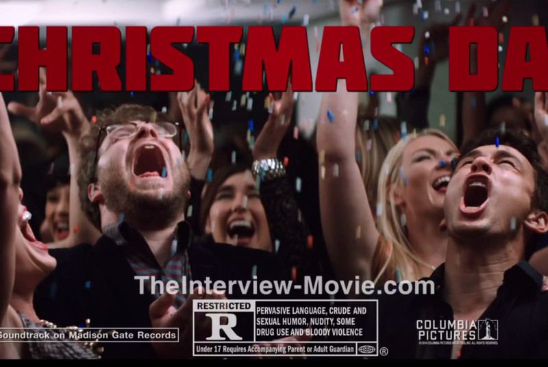 Sony just published a new YouTube promo for The Interview: 'In Franco and Rogen we trust'