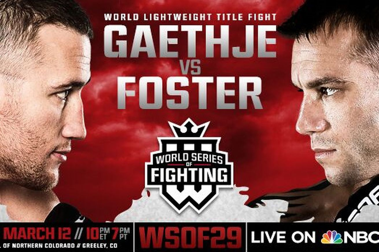 community news, WSOF 29 live results stream: Gaethje vs Foster play by play updates tonight on NBC Sports