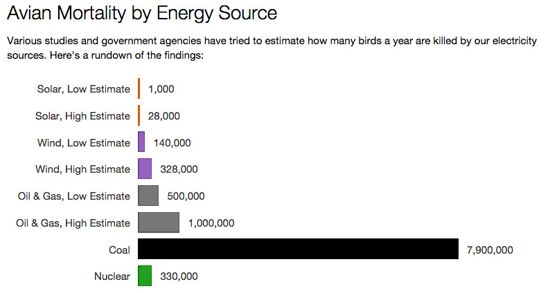avian mortality by energy source