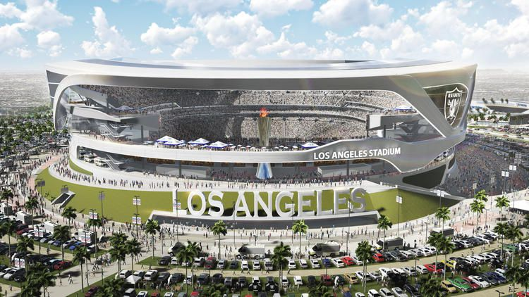 Raiders Chargers Release Revamped Los Angeles Stadium
