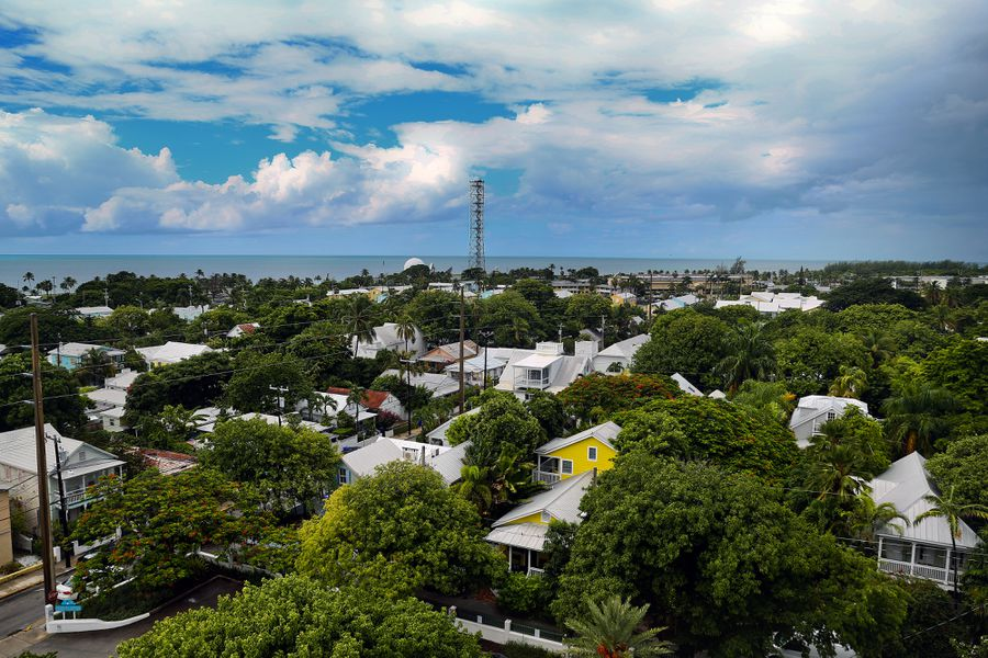 A view of Key West from the top of the Key West lighthouse.