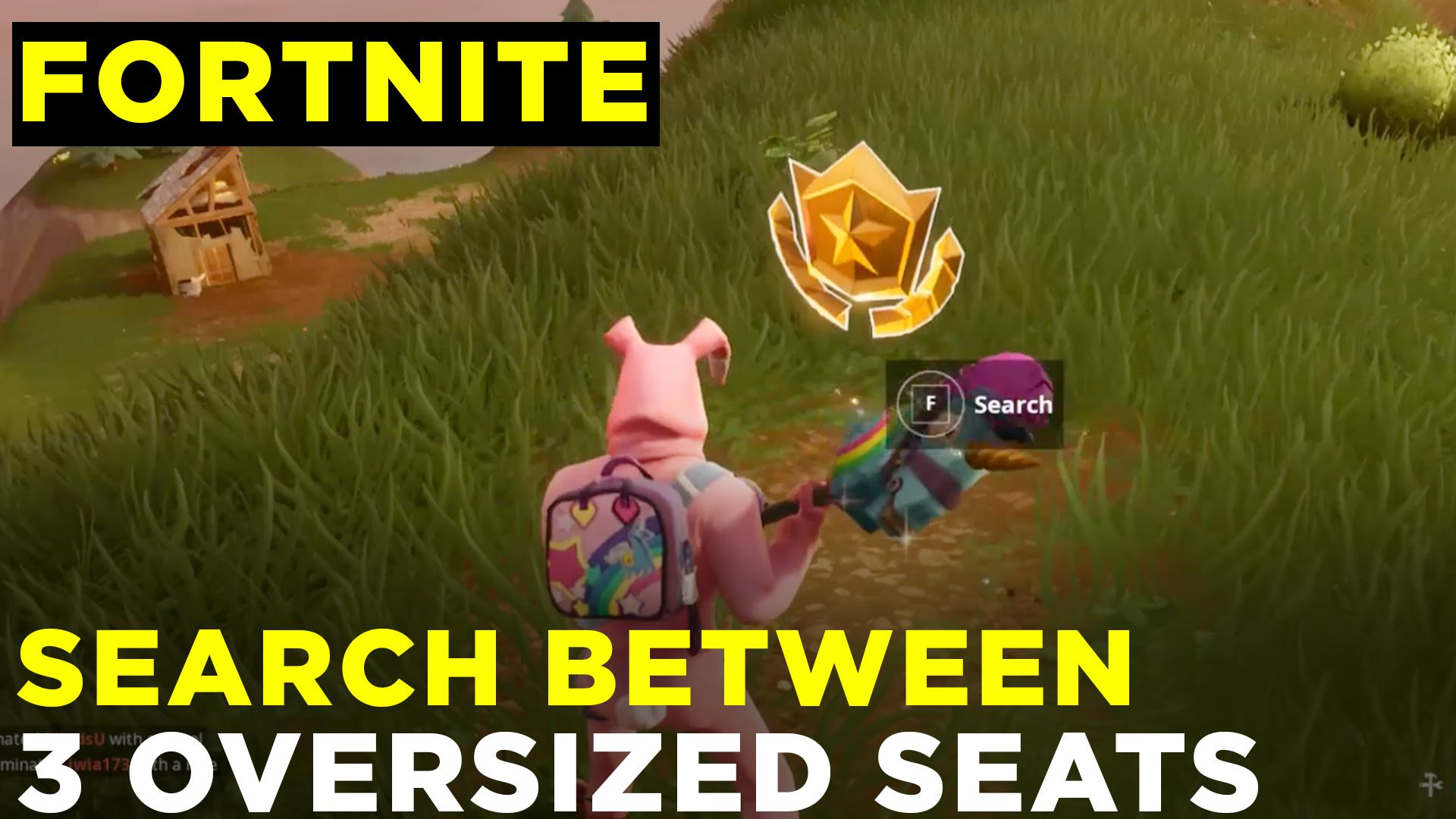 Search Between Three Oversized Seats Fortnite Week 8 Challenge Location Guide Polygon
